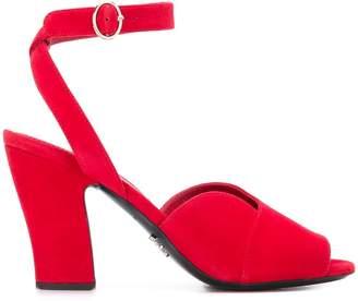 Prada mid-heel peep toe sandals