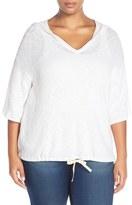 Plus Size Women's Caslon Blouson Pullover Hoodie