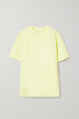 The Row Darciela Cotton-jersey T-shirt - Pastel yellow