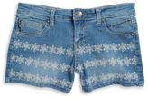 Vigoss Girls Floral Embroidered Shorts