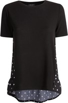 Thumbnail for your product : New Look Polka Dot Back Fine Knit Top