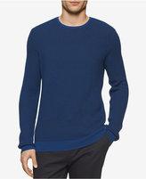 Calvin Klein Men's Crew-Neck Merino Plait Sweater