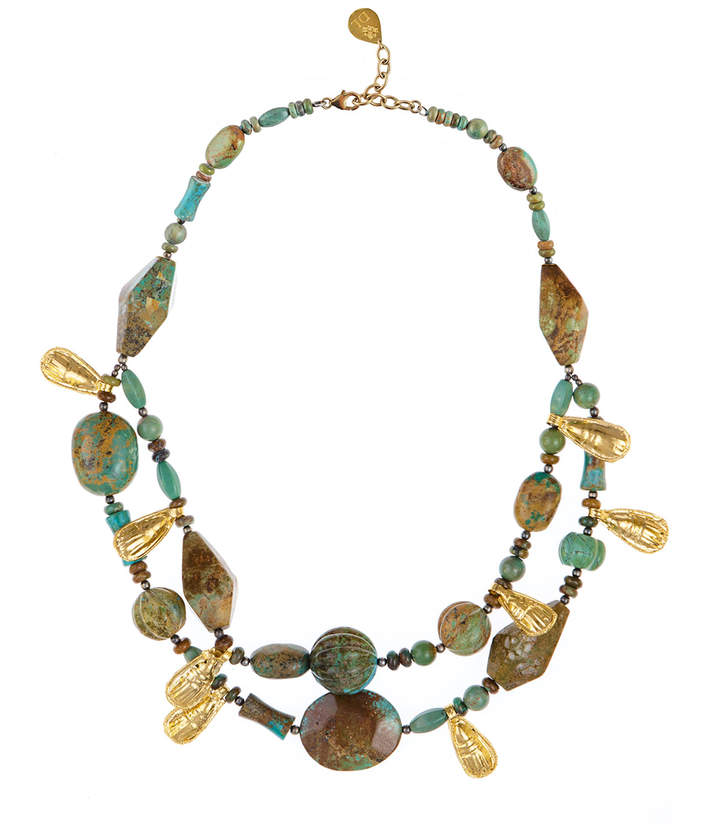 Devon Leigh Double-Strand Turquoise Necklace