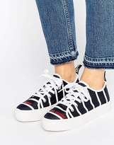 Love Moschino Stripe Flatform Trainers