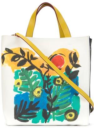 Marni Floral-Print Tote Bag