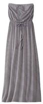 Junior's Strapless Maxi Dress