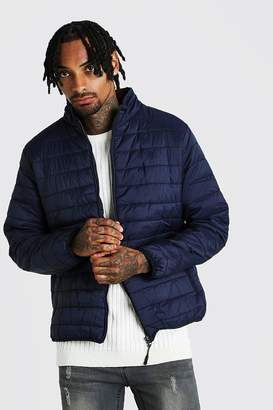 boohoo Funnel Neck Quilted Jacket