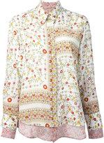 No.21 floral border print shirt - women - Silk - 42