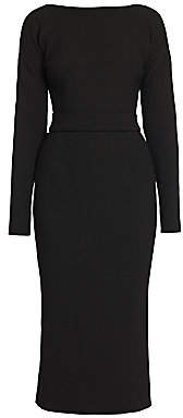 Dolce & Gabbana Women's Belted Bow-Back Double Crepe Dress