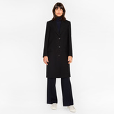 Paul Smith Women's Black 'A Coat To Travel In' Wool Epsom Coat