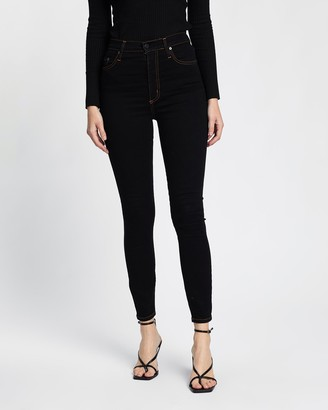 Nobody Denim Women's Black Crop - Siren Skinny Ankle Jeans - Size One Size, 26 at The Iconic