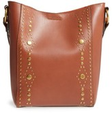 Frye Harness Calfskin Leather Bucket Bag - Brown
