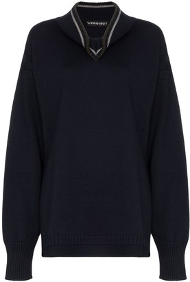 Y/Project Draped Neck Knitted Jumper