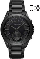 Armani Exchange Men's Connected Black Stainless Steel Bracelet Hybrid Smart Watch 44mm