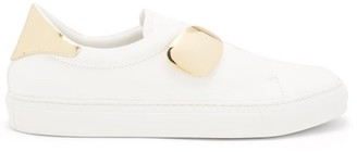 Rupert Sanderson Dynamo Leather Trainers - White Gold