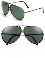 Porsche Design Men's 'P8478' 66Mm Aviator Sunglasses - Grey Matte