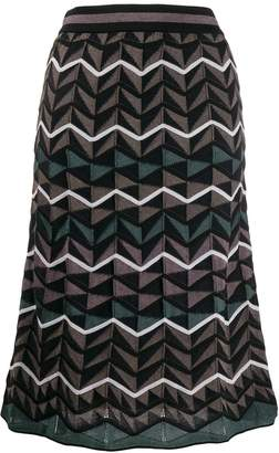 M Missoni knitted midi skirt
