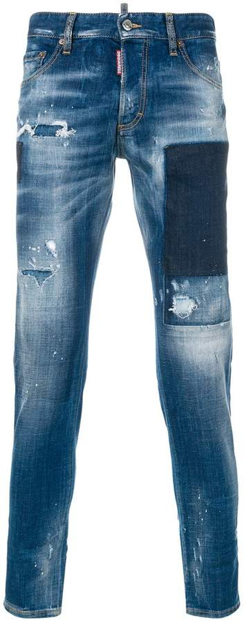 DSQUARED2 distressed Skinny Dan jeans