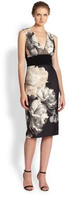 ABS by Allen Schwartz Floral Contrast Sheath