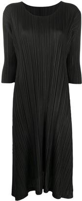Pleats Please Issey Miyake Micro-Pleated Midi Dress