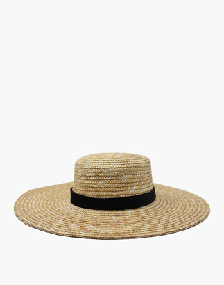 Madewell WYETH Straw Nellie Wide-Brimmed Boater Hat
