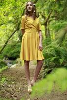 Shabby Apple Pecan Dress Mustard Ponte