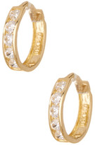 Candela 10K Yellow Gold CZ Huggie Hoop Earrings