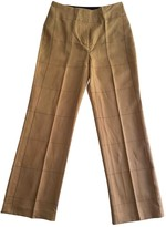By Malene Birger Beige Linen Trousers for Women