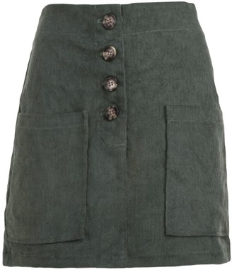 Goodnight Macaroon 'Jessica' Corduroy High-waisted Buttoned Mini Skirt (3 Colors)