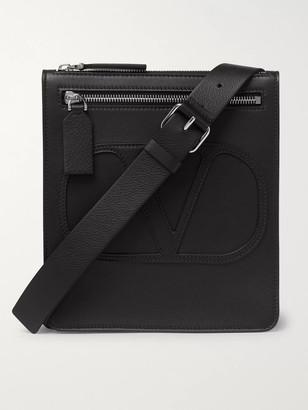 Valentino Logo-Detailed Leather Messenger Bag