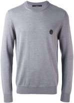 Billionaire logo patch jumper - men - Merino - S