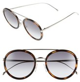 Fendi Women's 51Mm Round Aviator Sunglasses - Havana/ Gold