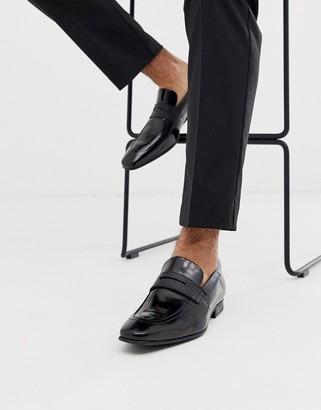 Ted Baker gaelhi loafers in black hi shine