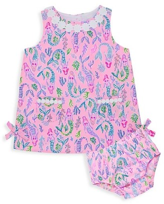 Lilly Pulitzer Baby Girl's Lilly Mermaid Shift Dress & Bloomers Set