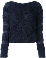 Jay Ahr chevron pattern cropped jumper