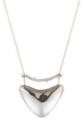 Alexis Bittar Essentials Crystal Encrusted Bar & Shield Pendant Necklace