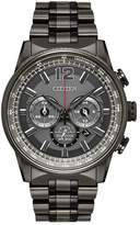 Citizen Eco-Drive Men's Nighthawk Stainless Steel Chronograph Watch - CA4377-53H