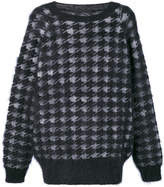 Haider Ackermann houndstooth pattern jumper