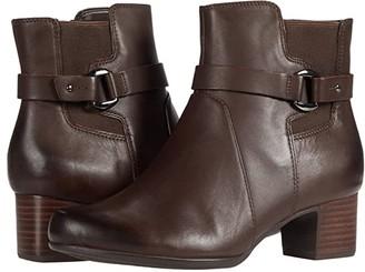 Clarks Un Damson Mid (Brown Leather) Women's Boots