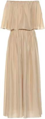 Brunello Cucinelli Silk off-the-shoulder dress