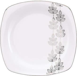 Lenox Lifestyle Dinnerware, Platinum Leaf Square Dinner Plate