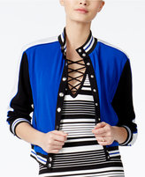 XOXO Juniors' Colorblocked Bomber Jacket