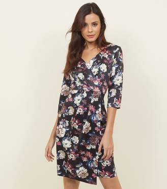 New Look Blue Vanilla Floral Wrap Front Dress
