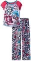 Monster High Big Girls' 2 Pieces Poly Pajamas Set