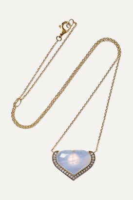 Noor Fares Vishuddha 18-karat Gold, Rhodium-plated Multi-stone And Enamel Necklace