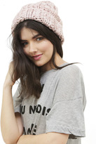 Free People Back To Basics Beanie in Dusty Mauve