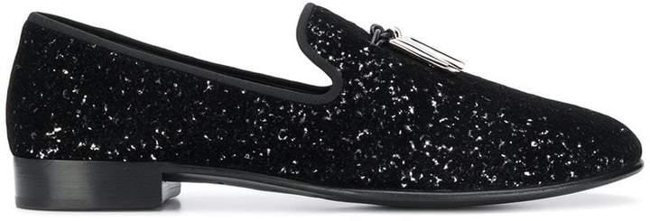 Giuseppe Zanotti Design Shark glitter loafers