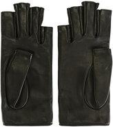Gucci fingerless gloves - women - Lamb Skin/Silk - 7