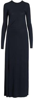 Giorgio Armani Stretch Jersey Drape Detail Gown
