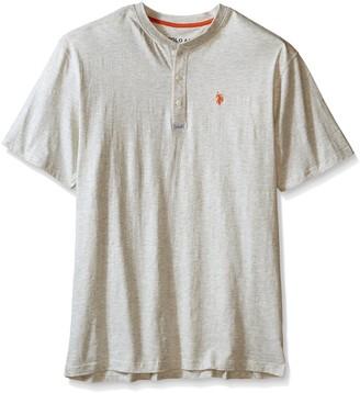 U.S. Polo Assn. Men's Big-Tall Slim Fit Slub Space Dyed Henley T-Shirt